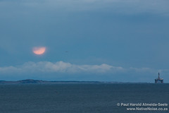 Super Moon Over Oil Rigs in the North Sea, Kirkcaldy