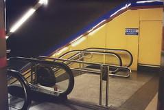 .crying (strngr) Tags: madrid film yellow stairs analog 35mm subway photography lights kodak crying lofi nostalgia melancholy