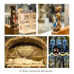 St Giles (Jim Monan) Tags: england scotland edinburgh knights stgilescathedral royalmile shield carvings medievel execution beheaded 1661 archibaldcampbellmarquisofargyle
