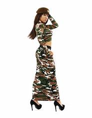 Camo (Szmytke) Tags: sexy fashion studio scotland model pattern top jenny skirt camo crop heels elgin beret maxi