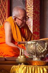 Wat Phrathat Doi Suthep (asitrac) Tags: travel people thailand asia southeastasia buddhism blessing chiangmai siam doisuthep th buddhistmonk chiangmaiprovince watphrathatdoisuthep theravada  saffronrobe bhikkhus philosophyreligions lannastylewat