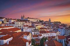 Lisbon Sunrise. (Rudi1976) Tags: city travel sunset house tower portugal church architecture sunrise outdoors twilight europe cityscape lisbon famous landmark scenics alfama iberianpeninsula buildingexterior