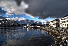 Sjgata -|- Sea street (erlingsi) Tags: sea sky norway clouds gate rocks fjord scandinavia stein volda skyer sunnmre sj noreg explored sjgata kystkultur