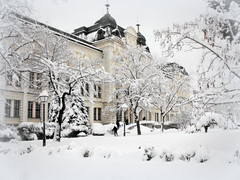 Winter in Sofia (Stella VM) Tags: city winter white snow building architecture gallery sofia bulgaria        nationalgalleryforforeignart    500