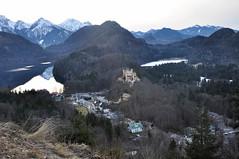 Neuschwanstein two lakes (Oleg Doudelzak) Tags: travel winter castle germany munich de bayern nikon neuschwanstein schwangau 2013 nikond90