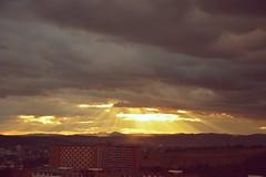 Zln (TJB (Tereza Bursov)) Tags: city sunset sky sun heaven shine czech zln