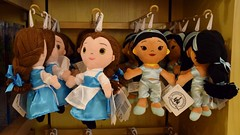 Disneyland Visit - 2016-01-17 - World of Disney - Princess Dept. - Small Plush - Closeup of Belle and Jasmine (drj1828) Tags: california doll princess disneyland jasmine small visit disney plush belle anaheim dlr ragdoll downtowndisney 2016 worldofdisney disneyparks