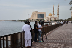 UAE - 2015-0564a (MacClure) Tags: camera tower minaret radisson uae mosque sharjah unitedarabemirates videography almaghfirahmosque