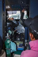 Mr. pilot, is it safe to land on 500 m long runway? (Petr Meissner) Tags: airplane kathmandu cabin lookingawayfromcamera pilots smallairplane start verify editorial