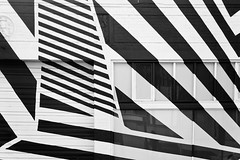 B&W Strips Shop (Orbmiser) Tags: winter bw building architecture oregon portland design nikon architectural d90 55200vr