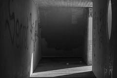 Al final del tunel (Oscar F. Hevia) Tags: sea espaa luz architecture concrete lights luces mar spain arquitectura gallery gijn balcony painted tunnel asturias shades lookout pintadas tunel sombras mirador atalaya watchtower hormigon asturies xixn laprovidencia principadodeasturias