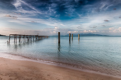 The old Jetty (www.chrisbirds.com) Tags: old travel blue sky reflection art beach canon fun thailand island paradise kohsamui kohchang lightroom 2016 wwwchrisbirdscom