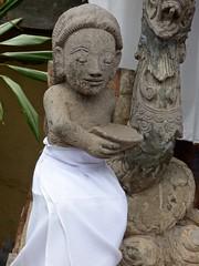 Beeld in de tempel . (Franc Le Blanc .) Tags: bali temple lumix panasonic hindu pura agung kerambitan