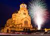 3.3.2016 (AVasilev) Tags: holiday saint cathedral fireworks sofia national alexander nevsky катедрала софия празник заря свети александър невски национален фойерверки