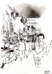 Chinatown, Bangkok (Delphine PS) Tags: bangkok encre thailande carnetdevoyage