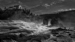 Rhine Falls (Dan Krn) Tags: bw fall water blackwhite waterfall wasser wasserfall schaffhausen explore sw rhine lanschaft explored