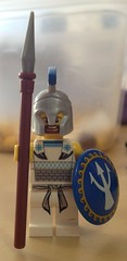 The Decal on a 'Fig (Sir Nagol) Tags: brick greek lego helmet shield decal minifig forge custom spartan spear minifigure macedonian brickforge