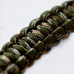 DSC_0658 - Interwoven (Athtart) Tags: macro texture closeup cord rebel pa bracelet february yell interwoven week6 theme 52in2016 intertwined