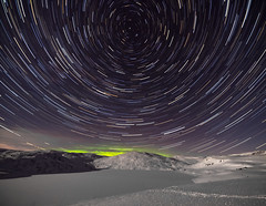 Star stacking (Torjan Haaland) Tags: winter sky mountain snow norway night dark outside lights star norge aurora stacking northern gazing northstar nordlys stax stjerne trailing