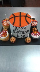 Basketball Cake, Cupcakes and Cake Pops (tasteoflovebakery) Tags: basketball cake cupcakes pops