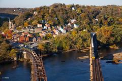 Good Morning, Harpers Ferry (benpsut) Tags: railroad autumn fall unitedstates knoxville maryland trains harpersferry overlook csx csxt autoracks harpersferrynationalpark rockrunner csxcumberlandsub