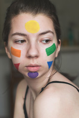 Color Wheel (Ceara ) Tags: blue red portrait orange selfportrait blur color green beautiful wheel yellow self myself fun march spring colorful purple sweet bokeh pale selftaught springtime colorwheel nikon35mm nikond5300