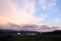 Freiburg in the setting sun III (tillwe) Tags: pink sunset sky clouds landscape freiburg blackforest tillwe 201603