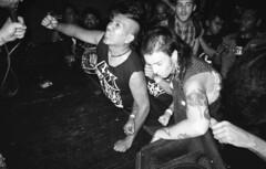 (David Chee) Tags: ricoh gr1v gr1 kodak trix 400 hc110 newyork nyc brooklyn east williamsburg the acheron anchored inn latinx latino punk fest 2015 verminoze live music shows film analog blackandwhite bw