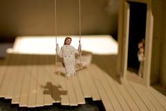V&A 3 2mar16 (richardbw9) Tags: uk shadow england london museum model theatre swing va peep kc woodenfloor victoriaalbert cromwellroad kensingtonchelsea setmodel southken holeinfloor womanonswing peepingkids