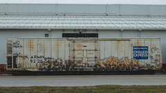 LEWIS - JERMS (Electric Funeral) Tags: railroad art digital train canon photography graffiti midwest nebraska paint lewis railway iowa fremont kansascity railcar missouri lincoln kansas traincar 5d omaha graff aerosol freight desmoines freighttrain rollingstock councilbluffs jerms benched a2m benching freighttraingraffiti fr8train fr8heaven