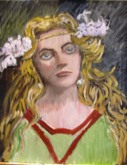Miranda in Stages (kevin63) Tags: flowers woman painting archive blonde actress wright tempest miranda edwardian lightner shakespearian norahkerin