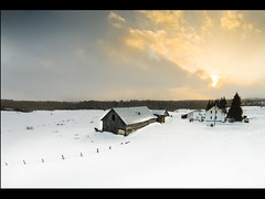 Powers 2 (Mat Charette) Tags: old travel winter sunset sky snow ontario canada flower art ariel nature barn nikon magical drone dji d5000 phantomvison phantomvison2