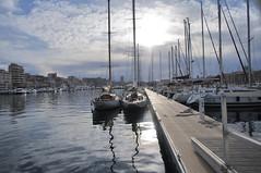 Marseille Harbour (nakwoodford) Tags: france reflection tourism port mirror pier boat marseille fishing yacht tourist norman foster boardwalk pontoon