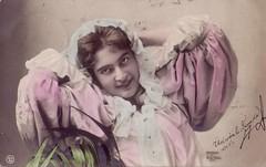 Vintage postcard (1904) (Ferencdiak) Tags: xx 1904 20th kolozsvár nő képeslap brassó kendő