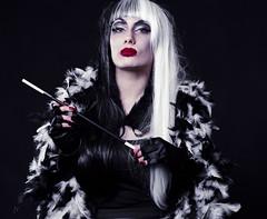 Cruella 9 (AberrationObscura) Tags: portrait film mediumformat studio drag model kodak dressup disney 120film fantasy 100 villain deville props cruel cruella ektar rb67 mamiyarb67 filmphotography