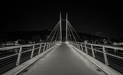 Ypsilon bridge, Drammen (A.Husvaer) Tags: bridge bw monochrome norway night norge f2 12mm drammen ypsilon samyang
