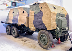 Thornycroft Bison (f0rbe5) Tags: uk museum truck concrete lorry dorset bison desperation 2009 raf beverley tankmuseum reconstruction airfield pillbox aerodrome afv mathews bovington camouflaged type2 royalairforce homeguard 3ton 6x4 btonbrut truckchassis armouredfightingvehicle 3tonner museumofarmytransport airfielddefences mobilepillbox thornycroftbison thornycrofttartar militarylorry lorrychassis fightingcompartment invasionscare charlesbernardmathews cbmathews concretelimited type2bison