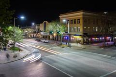 Downtown (K Fogle Photography) Tags: street city night nebraska lincoln lighttrails