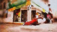 Yo ! - Balancing Act (Leo Bar) Tags: nyc art painting dance artwork danza digitalart latino breakdance northeast bboying oilpainting breaking boydance awardtree leobar pixinmotion netartii