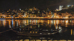 Oporto (Oscar F. Hevia) Tags: portugal water night reflections noche boat agua barco ship transport craft vessel porto douro nocturna came gaia oporto vino reflejos transporte duero rabelo vilanovadegaia barcorabelo