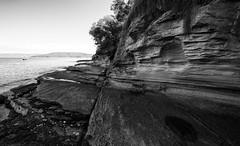 crossed lines (keith midson) Tags: cliff rock shoreline crack erosion coastal tasmania cracks tinderbox