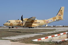 EC-002 LMML 20-04-2016 (Burmarrad) Tags: cn force aircraft air egypt airline airbus registration lmml c295m ec002 s151 20042016