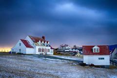 Sun vs Clouds (Danny VB) Tags: ocean morning houses winter sun house snow canada grass clouds sunrise canon landscape eos hiver sigma battle qubec 7d 30mm14 neige perc canoneos7d canon7d sunvsclouds