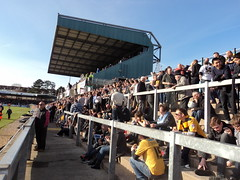 Away section at Bristol Rovers (Paranoid from suffolk) Tags: football fussball stadium soccer ground away fans supporters cambridgeunited 2016 stadia memorialground
