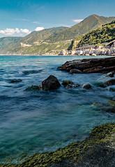 Chianalea, Scilla (Caterina Zito) Tags: longexposure blue sea sky italy landscape rocks italia mare blu scilla acqua calabria paesaggio ndfilter chianalea fotoamatorigioiesi