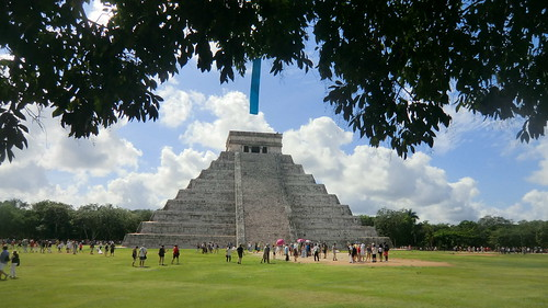 Mexico - Chichén Itzá; Kukulcán pyramid - the Mayan temple area is a top attraction & a high valuable asset