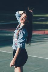 Eri (Lucas Gramatica Photography) Tags: portrait sun sexy girl beautiful beauty sunshine fashion model nikon women mood natural moda 85mm fashionista tenniscourt nikonphotography vsco