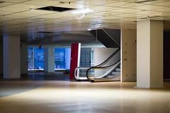 empty (guido.elting) Tags: light abandoned sign dark cone sale escalator pillar schild karstadt dunkel verlassen rolltreppe sule lichtkegel ausverkauf
