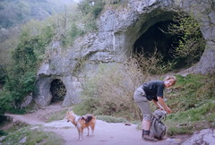 In Dove dale with my good friend (petefreeman75) Tags: peakdistrict caves dovedale