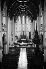 The Cathedral of Jakarta (witatjokro) Tags: blackandwhite bw church architecture design cathedral interior gothic ornament jakarta neogothic archdaily